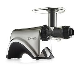 Omega Juicers 6th Generation Stainless Steel Silver Masticating Juicer And Nut