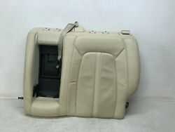 13-16 Lincoln Mkz Rear Left Driver Seat Upper Cushion Beige Leather Lot3154