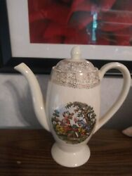 Coffee Pot And Lid Cronin China Colonial Couple