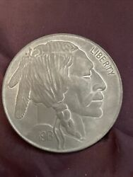 1913 Liberty Indian Head Buffalo United States Of America 5 Cent Huge Token Coin