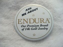Rt- Ask Me About Endura Our Premium Brand Of 14k Gold Jewelry Pin Badge 35776