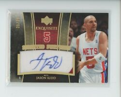 Jason Kidd Auto Jersey Logo Patch /25 2005-06 Ud Exquisite Scripted Swatches Sp