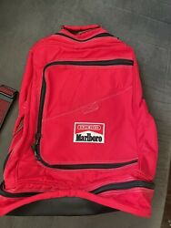 Vintage 1990s Red And Black Marlboro Unlimited Gear Hiking Backpack