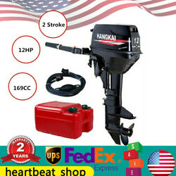 2stroke 12hp Outboard Motor 169cc Water Cooling 2 Cycle Marine Boat Engine
