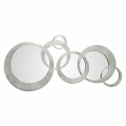 Uttermost 09303 Odiana Oversized Contemporary Linked Circles - Silver