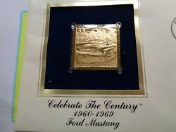 Ford Mustang Convertible 1960-1969 Usps 22kt Gold Stamp Very Rare Nice A