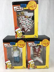 The Simpsons Christmas Lot Ornament Homer Simpson Cookie Chimney Candy Cane
