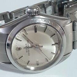 Rolex Oyster Perpetual Ladies 26 Mm Steel Automatic Silver Watch 6618 Circa 1969