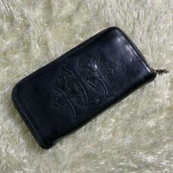 Chrome Hearts Long Wallet Round Fasteners Cemetery Cross Razor