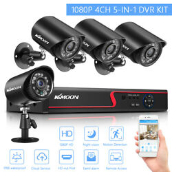 4ch 2mp Lite Dvr 1080p Outdoor Security Camera System Kit Night Vision D2g5