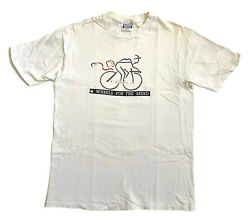 Vintage 80s Apple Macintosh Picasso Wheels For The Mind Large White T Shirt Rare