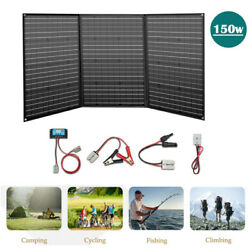 150w Flexible Foldable Solar Panel 20a Controller For Home Rv Boat Outdoor Us