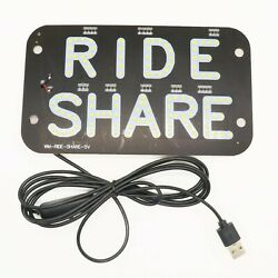 Light Panel Sign Warning Car Interior Taxi Driver Warrant Wireless Led Indicator