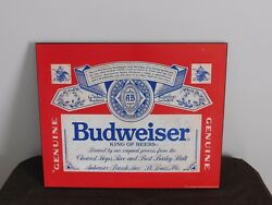 Vintage Bar 1991 20 X 16 Budweiser King Of Beers Wall Sign