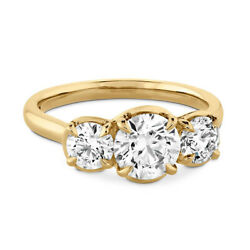 Classic 1.10 Ct Real Diamond Engagement Ring Solid 18k Yellow Gold Size 6 7 8 9