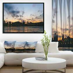 Designart And039sunset With Clouds In Kiev Panoramaand039 Cityscape Small