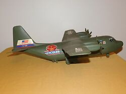 Vintage Made In Usa Toy 24 Us Army C-130 Hercules Plastic Airplane