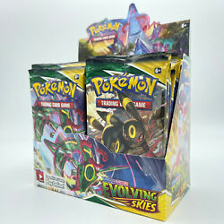 10 Evolving Skies Booster Pack Lot - From Factory Sealed Pokemon Booster Box