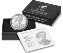 9x 2021 S Proof American Silver Eagle Type 2 Proof Sealed Ogp Presale