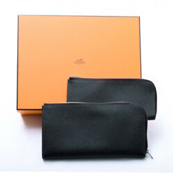 Hermes Remix Combine Voepson A-engraved Metal Fittings Long Wallet L-shaped