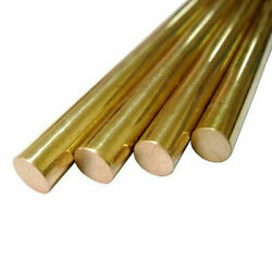 C28000 Brass Round Rods Yellow Metal Stick Solid Brass Bar Select Size