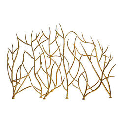 Uttermost 18796 Gold Gold Branches 48w Iron Fire Screen By Jim Parsons