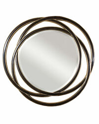 Uttermost 14522 B Black/silver Odalis Beveled Mirror With Entwined Circles Frame