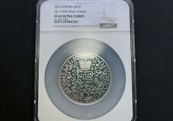 2021 Uk 95th Birthday Of Her Majesty The Queen 5 Oz Silver Proof Coin Ngc Pf69