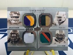 Adrian Peterson Gore Brown Johnson 2010 Ud Exquisite Collection Quad Patch /15