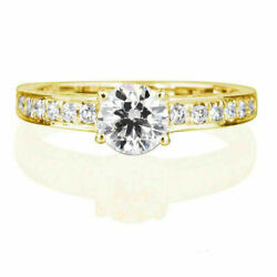 1.2 Carat Vs Real Diamond Engagement Ring W Accents Size 5.5 6 6.25 6.5