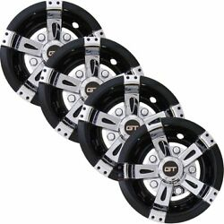 Gt Golf Cart Hubcaps 8 Inch Set Of 4 Universal Golf Cart Wheel Covers In Chrome