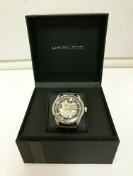 Hamilton Railroad/open Heart/h406550/box With Instruction Manual Automatic Watch