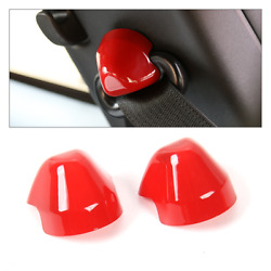 2pcs Car Seats Safety Belt Cover Trim Decoration For Ford Mustang 2015-2019 Red