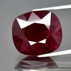Big 11.97ct 15.2x13.5mm Cushion Natural Red Ruby Mozambique Heated