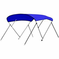 4 Bow Bimini Top Boat Cover - Front Hold-down Straps And Rear Support Arms In...