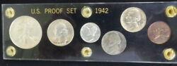 Us 1942-p Unc. Proof Mint Set/ With 6 Coins With The Rare Silver Nickel