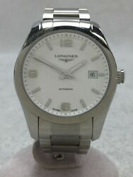 Longines Conquest Classic/automatic Watch/analog/stainless/wht/slv/l2.785.4