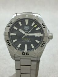 Tagheuer Automatic Watches Aquaracer Calibre Analog Stainless Steel Gry Slv Oh