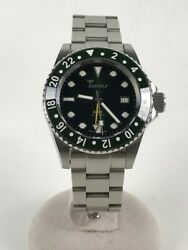 Sqale /automatic Watch/analog/stainless/grn/slv/diverswech/y1545