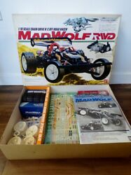Vintage 80and039s Bandai Japan 1/10 Electric Chain Driven Mad Wolf Rwd Nos Monogram