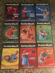Kettleworx Dvd Lot Of 9 Workouts Kettle Bell Worx Complete Fitness Exercise