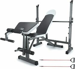 Oteksport Adjustable Weight Bench Set For Full Body Workout, Multi-functional
