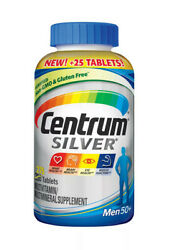 Centrum Silver Men Multivitamin Tablet Age 50 And Older 275 Ct. Free Shipping