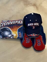 Boston Red Sox Mens Clothing Bundle T Shirt Size Xl Hat And Slippers