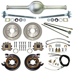 Currie 9 Ford 53 Street Rod Rear End And Disc Brakeslinesparking Cablesaxles