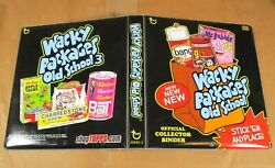 2011 Topps Wacky Packages Old School Series 3 Olds3 3-ring Binder Album Nm Rare