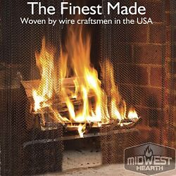 2-piece Midwest Hearth Fireplace Mesh Screen W/ Coil Handles 20 X 24 20x48