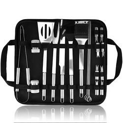 Barbecue Tools, Grill Set, Stainless Steel Material, 20 Pieces Black