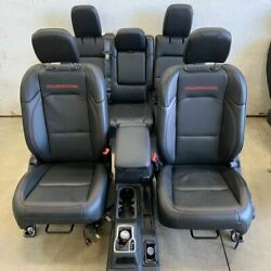 Black Rubicon Heated Leather Bucket Seat Set W/red Logo, For 21 Wrangler 2286795