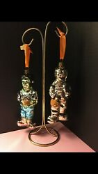 Waterford Holiday Heirlooms Halloween Collection Frankenstein And Mummy Ornament